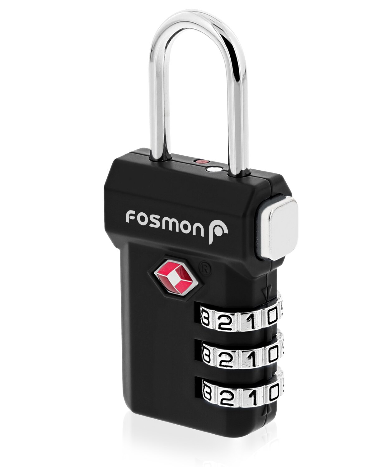e4190fe83aa9 Fosmon Open Alert Indicator TSA Approved 3 Digit Combination Luggage Lock -  Black