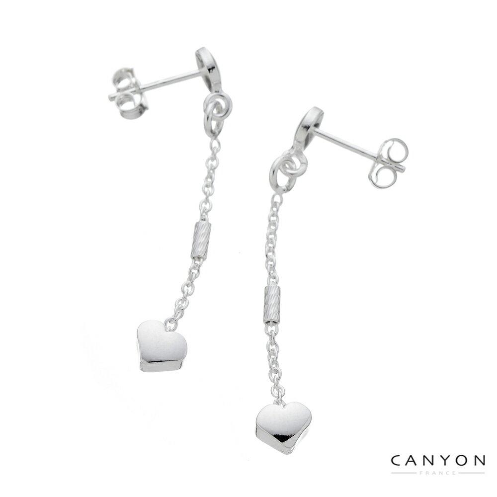 【CANYON】細緻小愛心銀耳環(絕版6折出清)