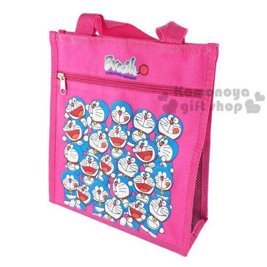 〔小禮堂〕哆啦A夢 直式手提便當袋《桃紅.多動作滿版》輕巧好攜帶