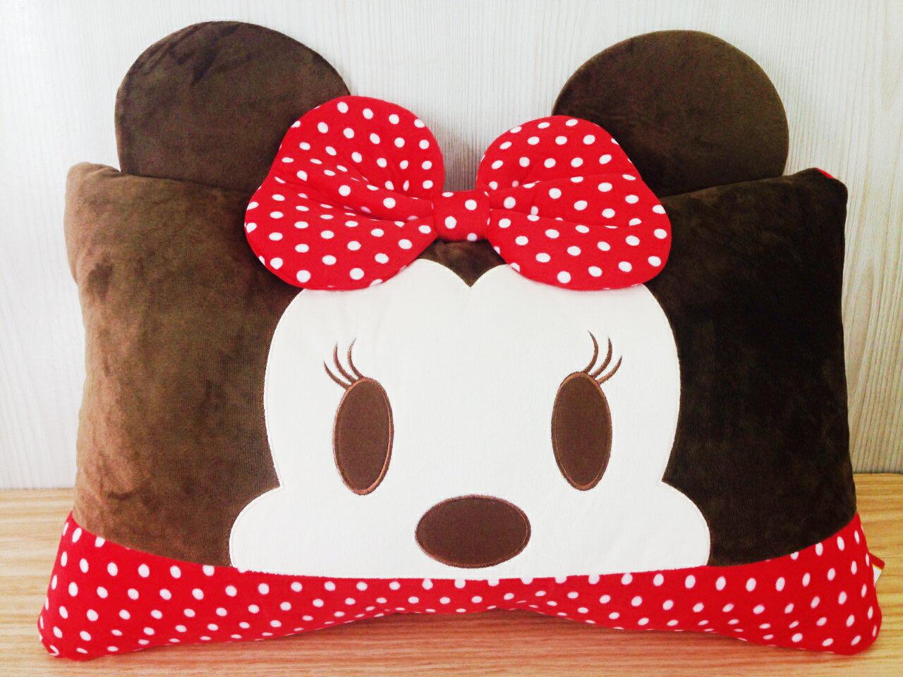 【真愛日本】15122200001大臉雙人枕-米妮  迪士尼 米老鼠米奇 米妮   靠枕  抱枕  擺飾