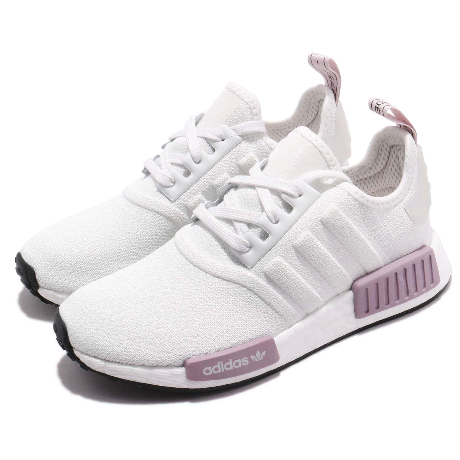 【ADIDAS】NMD_R1 白紫 經典鞋 休閒鞋  慢跑鞋 女 訂價5290 BD8024 (Palace store) 0