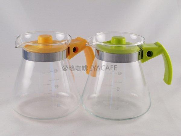 《愛鴨咖啡》晶彩 耐熱花茶壺 咖啡承接壺 600ml