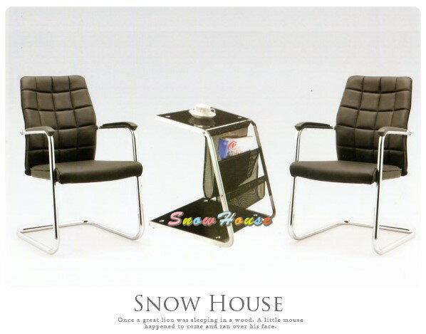 ╭☆雪之屋居家生活館☆╯AA327-01QG-1158C洽談椅(黑皮)(單張)辦公椅會議椅休閒椅(不含桌子)