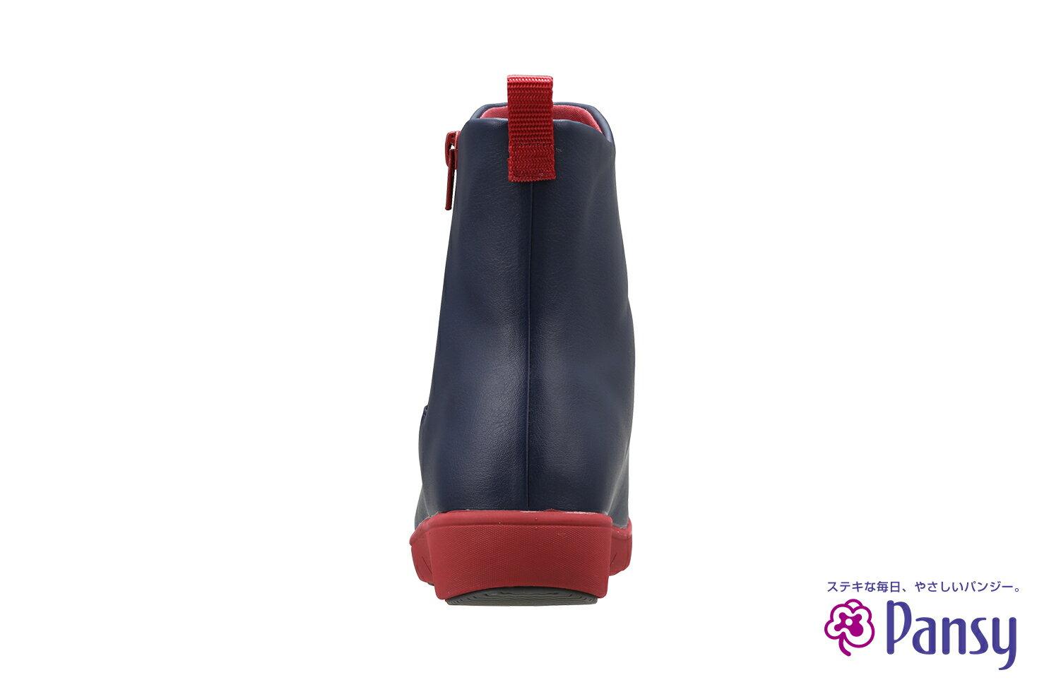 PANSY 女性 時尚撞色 短筒雨鞋 QA4944 2