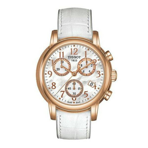 TISSOT天梭T0502173611200 DRESSPORT玫瑰金優雅時尚石英腕錶/珍珠母貝面35mm