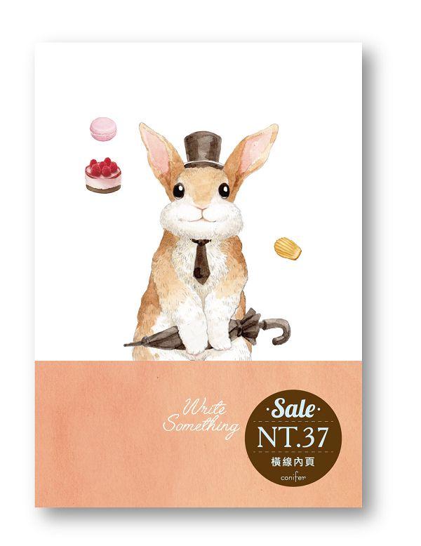 Write Something-25K橫線-紳士兔MM31257《品文創》