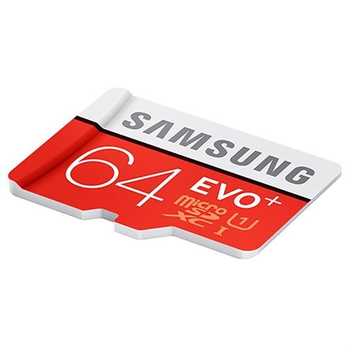 Samsung EVO+ 64GB microSDXC Class 10 64G EVO Plus microSD micro SD SDXC 80MB/s UHS-I U1 C10 MB-MC64DA with Original SD Adapter 3