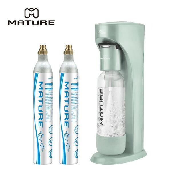 【領券現折+點數回饋11~23%】MATURE美萃 Classic410系列氣泡水機(425g氣瓶2支) 2