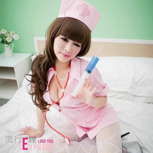 護士制服~角色扮演服COSPLAY服裝~短袖洋裝護士裝~流行E線A409