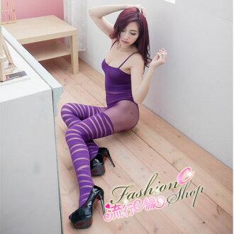 情趣睡衣 紫色開襠絲襪連身性感內衣褲情趣睡衣*流行E線B329