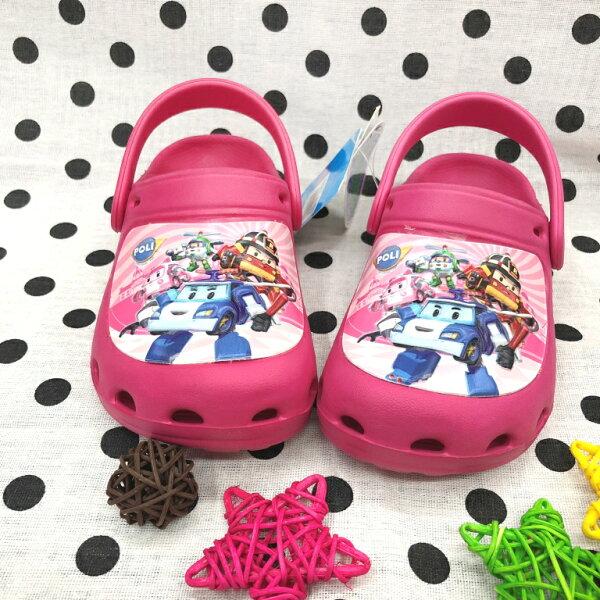 【巷子屋】救援小隊-童款超輕量布希鞋涼拖鞋[61023]桃MIT台灣製造超值價$200