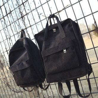 後背包-復古素面絨布後背包-6081- J II