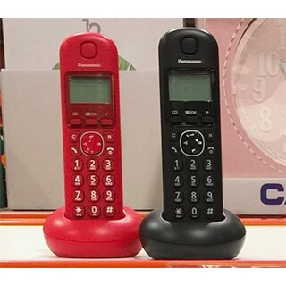 【PANASONIC】數位無線雙子機 1.4寸背光螢幕/KX-TGB212 (紅黑雙色)