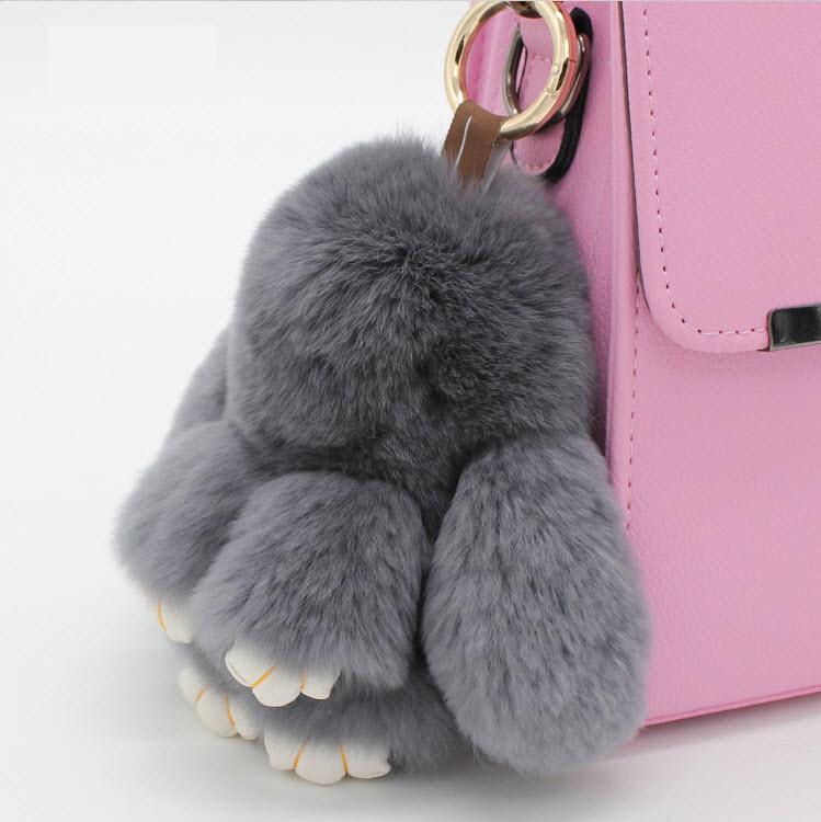 網紅名兔大18公分 萌萌兔  毛兔兔 獺兔毛皮草 10色  可愛 皮包掛飾 汽車掛件 飾品
