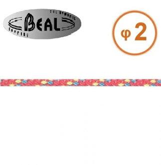 Beal 輔助繩/普魯士繩 2mm Cordelettes 紅色 C02 每單位公尺