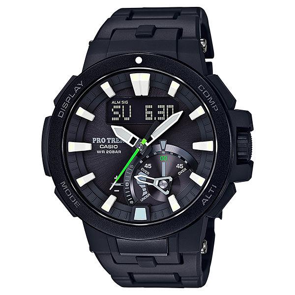 CASIO PROTREK PRW-7000FC-1 多功能高階登山雙顯電波腕錶/52mm