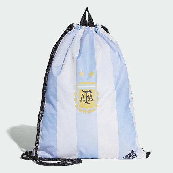 ADIDASARGENTINAGYMBAG後背包束口袋世足賽阿根廷休閒藍白【運動世界】CF5001