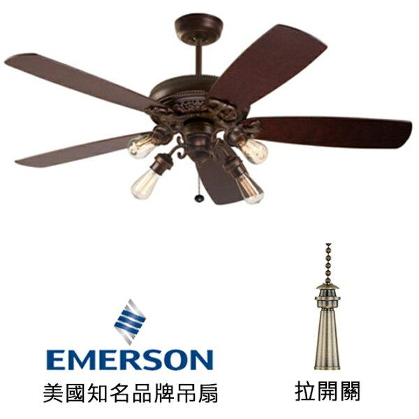 [topfan]EmersonCrownSelect52英吋吊扇附上下燈(CF4501VNB_B77WA_F490_VB100ORB)威尼斯銅色(適用於110V電壓)