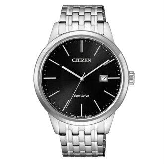 CITIZEN星辰錶BM7301-57E 簡約時尚光動能對錶男腕錶/黑面40mm