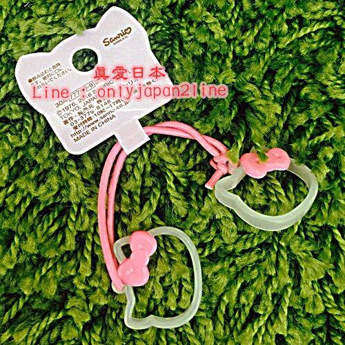 【真愛日本】16092300014造型髮束-KT大臉簍空粉結   三麗鷗 Hello Kitty 凱蒂貓   髮飾 飾品  正品