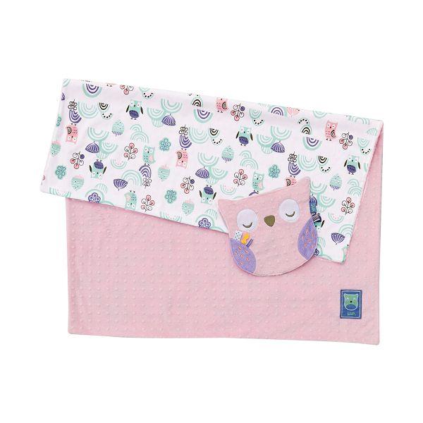奇哥 PUP 豆趣毯四季禮盒(毛毯+安撫巾)/彌月禮盒 粉色(附奇哥提袋)
