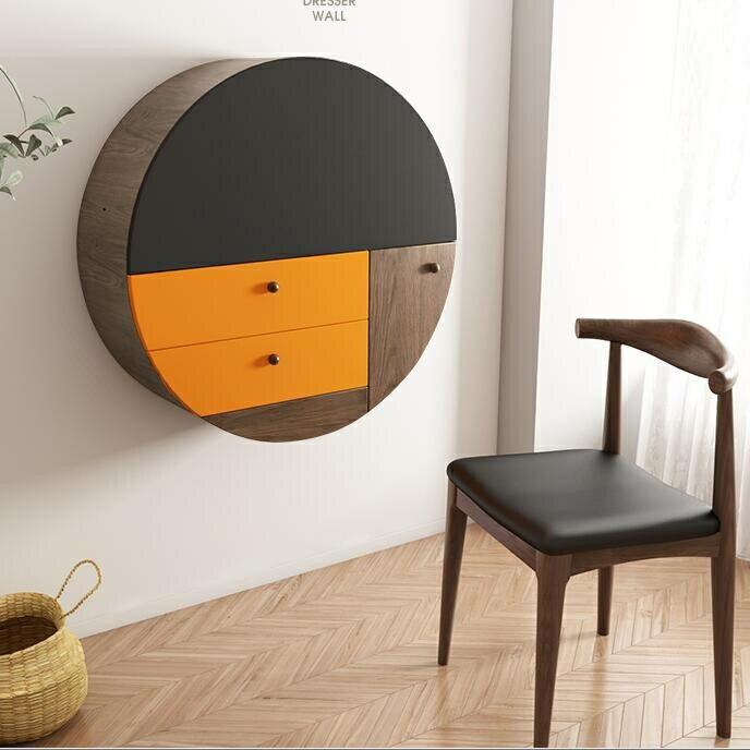 梳妝臺 北歐ins風飄窗梳妝臺臥室現代簡約小戶型多功能掛墻化妝收納桌子