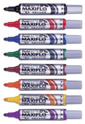 Pentel飛龍牌 MWL-5M 直液後壓式白板筆(粗圓字)/一盒12支入{定55}~有8色喔~