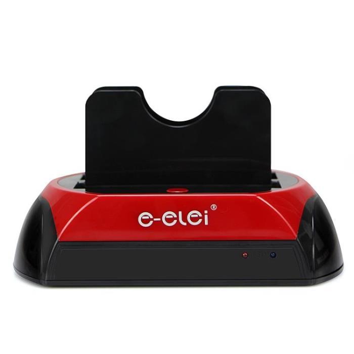行動硬碟盒 2.5 / 3.5寸通用IDE串口SATA硬碟底座雙硬碟座 1