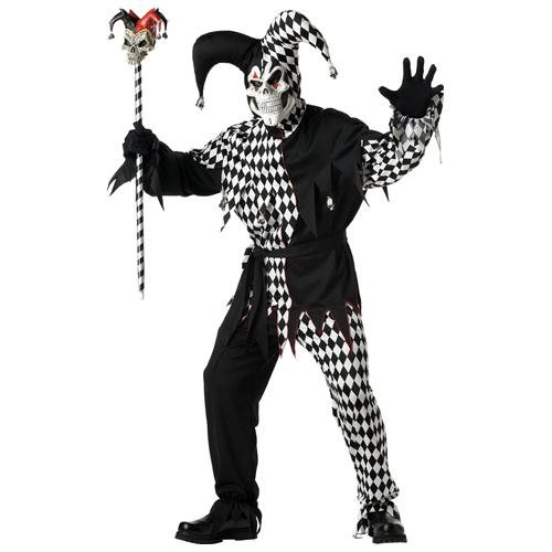 Evil Jester Costume: Men's Size 42-44 0