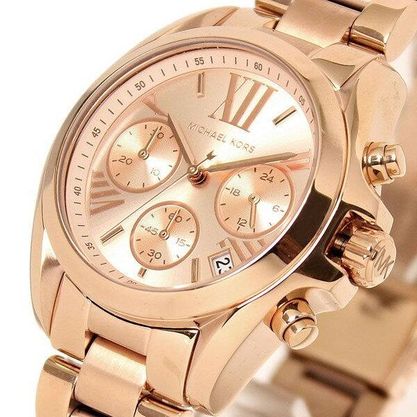 【限時8折 全店滿5000再9折】Michael Kors MK 玫瑰金熱吻巴黎三環計時手錶腕錶 MK5799 美國Outlet 正品代購 2