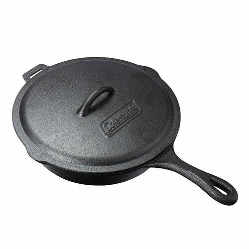 【露營趣】中和 美國 Coleman 經典鑄鐵平底鍋 電磁爐適用 煎鍋 荷蘭鍋 烤盤 油炸鍋 鑄鐵鍋 CM-21880
