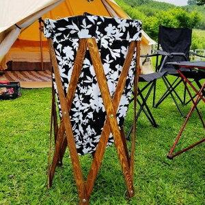 美麗大街【107051633】可當手提袋布藝彩色實木髒衣籃