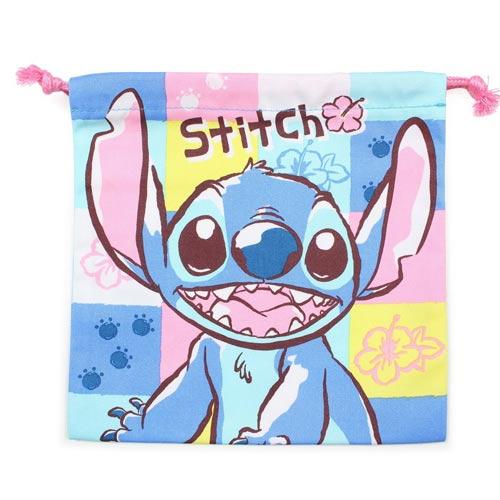 【日本進口正版】史迪奇 Stitch 迪士尼系列 帆布 束口袋 收納袋 抽繩束口袋 Disney - 197892
