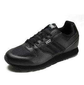 [陽光樂活] (特價) PONY SOLA-V 系列-女復古休閒運動鞋-黑 53W1SO63BK