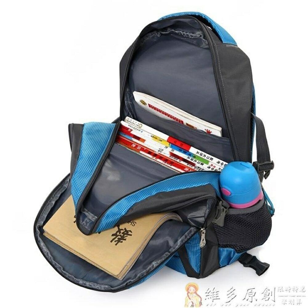 兒童書包大容量初中小學生4-5-6-9年級男孩手拉箱可拆卸三輪爬樓DF  免運 維多