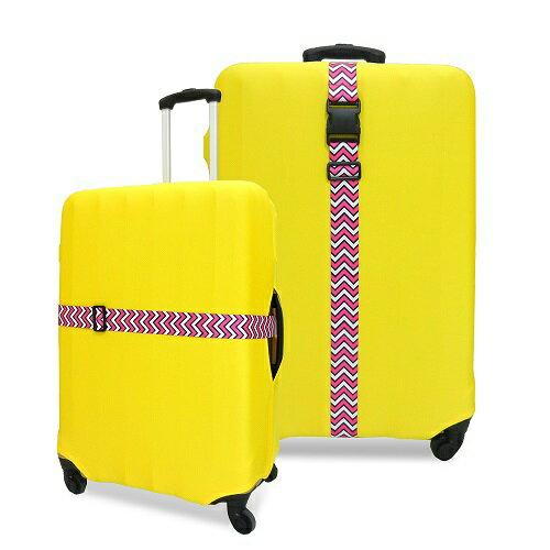 格紋行李箱束帶 顏色隨機(長度100-180cm) [大買家] 2