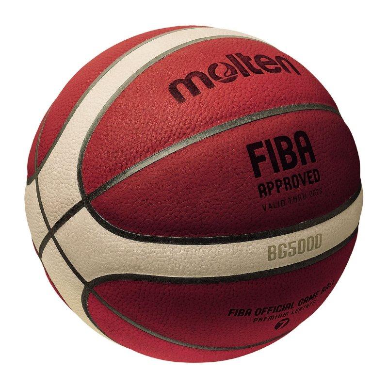 【H.Y SPORT】新款 MOLTEN BG5000 7號 真皮籃球 奧運指定用球 FIBA 國際賽事指定品牌 認證 - 限時優惠好康折扣