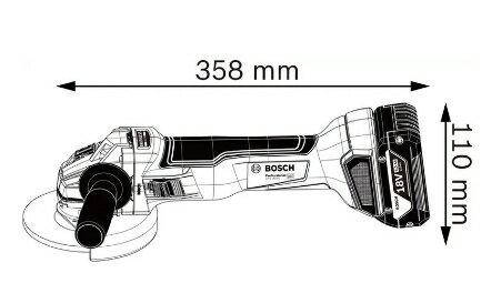 BOSCH博世新款上市 慶祝快閃活動 GWS 18V-10 18V鋰電免碳刷砂輪機 無刷研磨機 8.0Ah