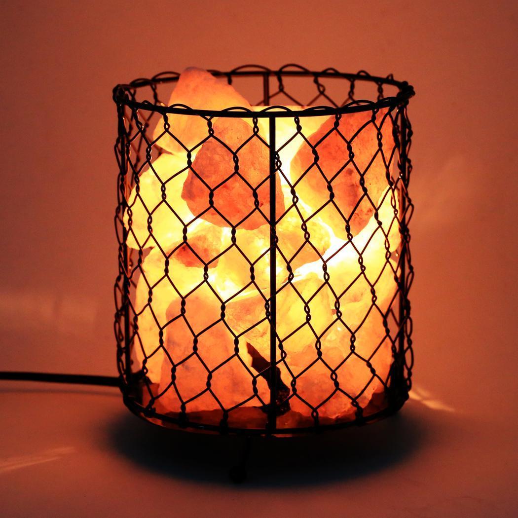 Salt Home Lamp Metal Basket US Plug 2