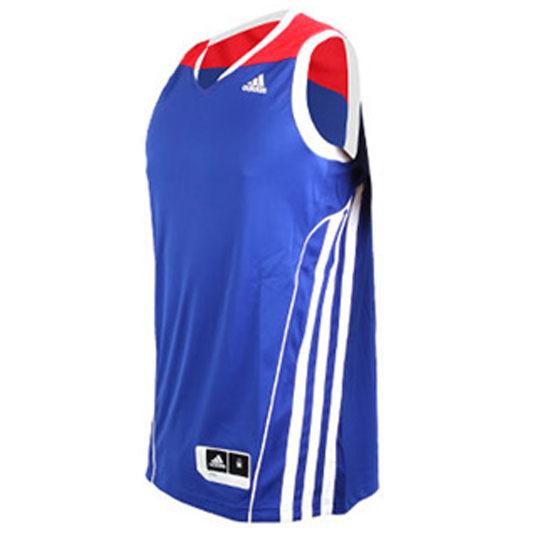 《精選服飾↘市價65折》Adidas ALLSTAR TEAM SPEED 男裝 上衣 球衣 背心 籃球 藍 紅 【運動世界】 G78190
