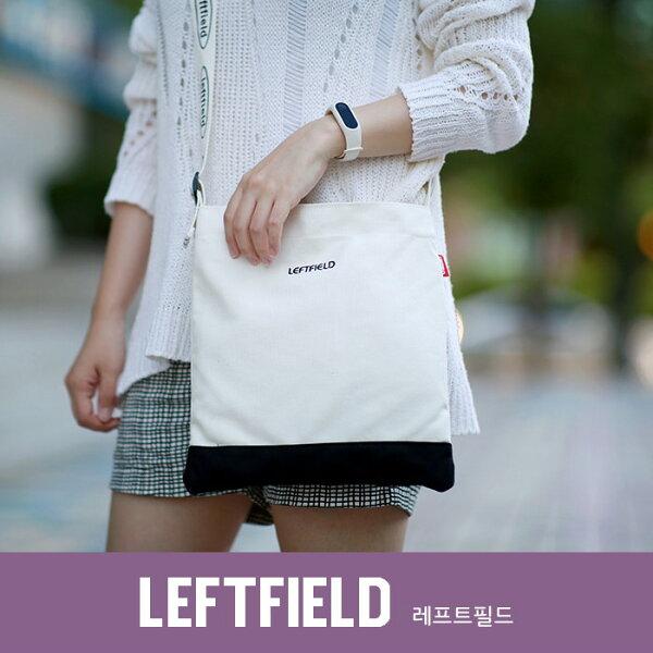 【韓國直送】側背包韓國LEFTFIELD底部拼接色休閒背包肩背斜背包NO.1213cotton