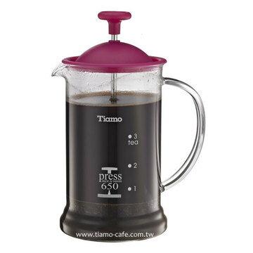 金時代書香咖啡 TIAMO 多功能法式玻璃濾壓壺 650cc SGS合格 HG2110PK - 限時優惠好康折扣