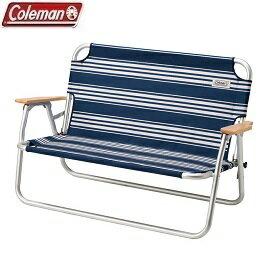 [ Coleman ] 輕鬆摺疊情人椅 藍/白 / 公司貨 CM-31287