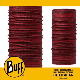 BUFF 西班牙魔術頭巾 SLIM頭巾 [暗紅色帶] BF113074-425-10