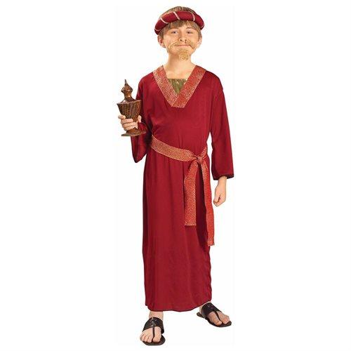 Burgundy Wiseman Child Halloween Costume 0