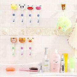 【八八八】e網購~【韓國創意吸盤牙刷架LA361 】NO135卡通情侶壁掛牙刷架吸壁式自動型旅行牙刷盒