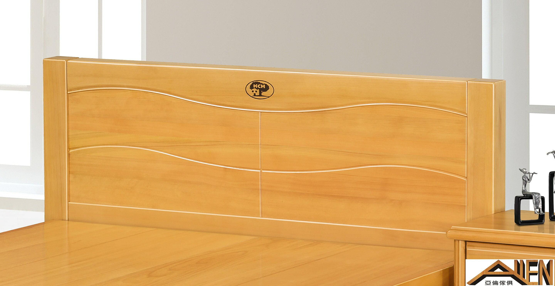 亞倫傢俱*典雅南洋檜全實木5尺雙人床架 (檜木色)