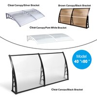 Deals on Mcombo 40-inchX80-inch White Window Awning