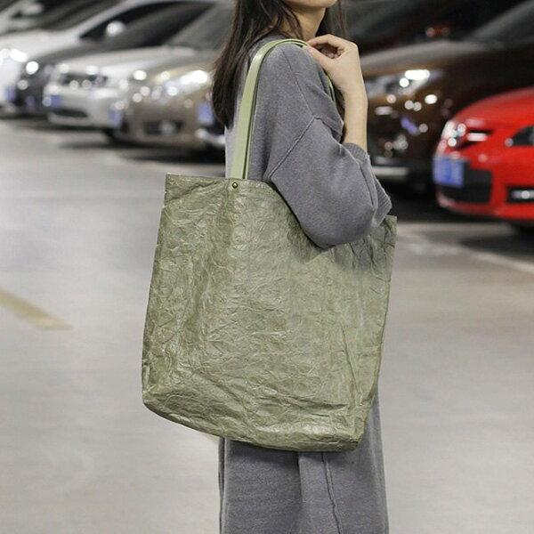 帆布袋做舊褶皺輕便手提包帆布包環保購物袋-手提單肩包【AL167】BOBI0920