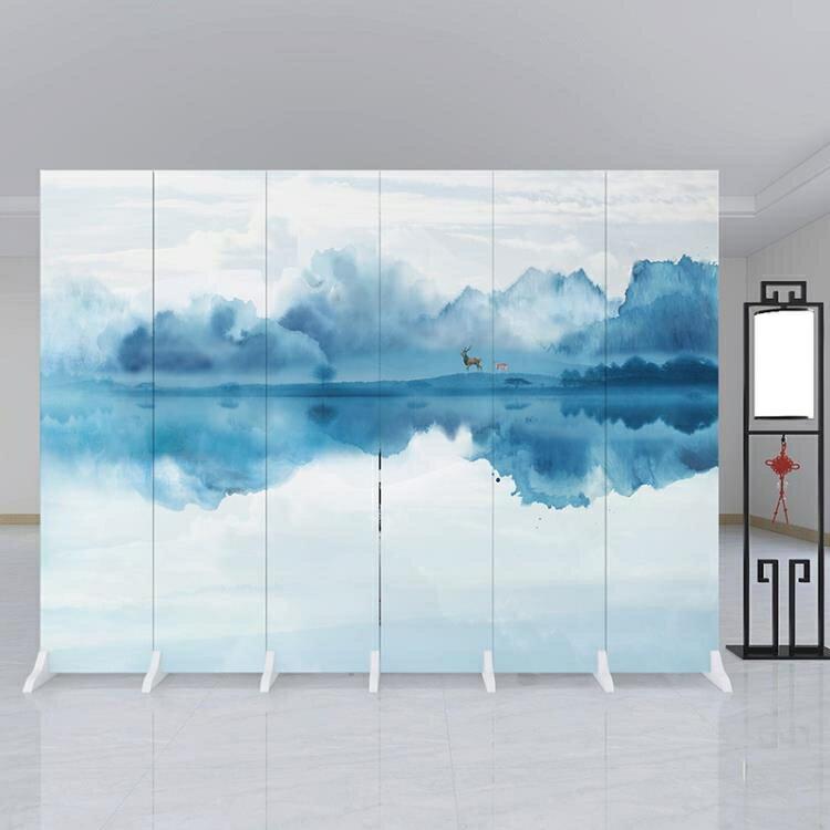 新中式屏風隔斷牆客廳摺疊行動簡約現代辦公室臥室內裝飾家用遮擋ATF【7月特惠】